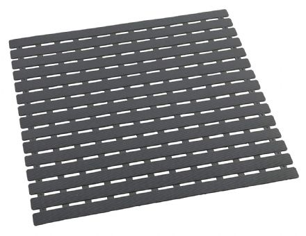 Wenko Arinos Grey Shower Mat 54 x 54 cm